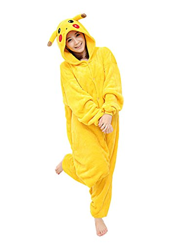Yimidear® Unisex Pigiama Adulto Animale Cosplay Halloween Costume Attrezzatura (Pikachu, S) - 1