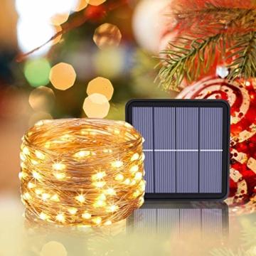 [2 Pacchi] Luci Solari Esterno, Litogo 12m 120 LED Catena Luminosa Esterno Filo Luci Led 8 modalità Lucine da Esterno Decorative Per Giardino, Natale, Patio, Cancello, Cortile, Matrimonio, Festa - 7