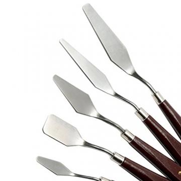 5 pz pittura spatola raschietto, acciaio inox sicai artista pittura a olio spatola spatola vernice art - 5