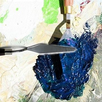 5 pz pittura spatola raschietto, acciaio inox sicai artista pittura a olio spatola spatola vernice art - 6