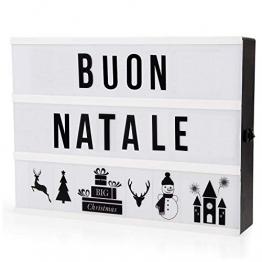 Adoric Lampada LED Lightbox di Luce bianca con 96 lettere per Natale,Casa, Festa,Matrimonio,Compleanno,Negozio. - 1