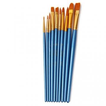 AKORD-Pennelli in Nylon, plastica, Colore: Blu, Confezione da 10 - 2