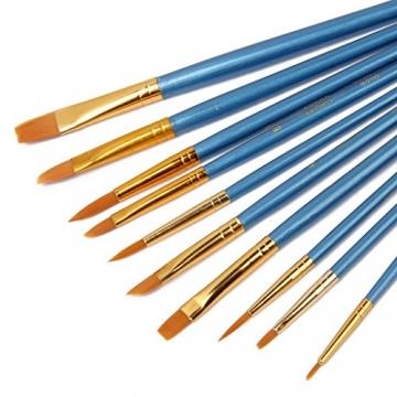 AKORD-Pennelli in Nylon, plastica, Colore: Blu, Confezione da 10 - 3