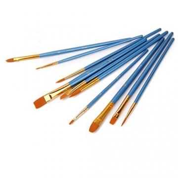 AKORD-Pennelli in Nylon, plastica, Colore: Blu, Confezione da 10 - 4