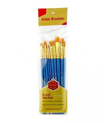 AKORD-Pennelli in Nylon, plastica, Colore: Blu, Confezione da 10 - 5