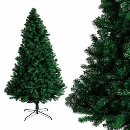 Albero di Natale Bianco Verde, Albero di Natale Artificiale in PVC Ignifugodi in Diverse Misure ( Verde, 1,5 Metri ) - 1