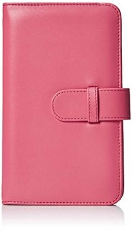 AmazonBasics - Album a portafoglio per 108 foto Instax Mini, rosa - 1