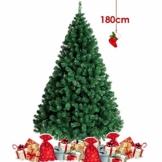 amzdeal Albero di Natale da 180 cm (850 Rami), Base Robusta e Ramo Verde, Albero di Natale Artificiale con Aghi Lunghi per Casa, Negozio, Parco, Festa ECC. - 1