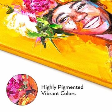 Arteza Colori Acrilici Professionali, Set da 60 Tubetti Grandi da 22ml, Tempere Acriliche per Dipingere su Tela, Pigmenti Brillanti e Fluidi Facili da Mescolare, Sia per Esperti che per Principianti - 6