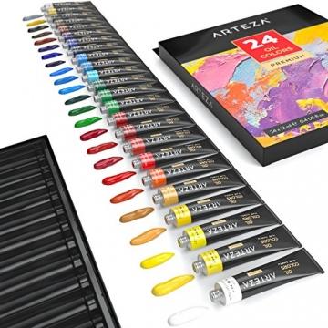 Arteza Colori Ad Olio Per Pittura - Kit Da 24 Tubetti Singoli Da 12 Ml Per La Pittura– Colori Ad Olio Professionali - Ideali sia su Tela che su Legno - 4