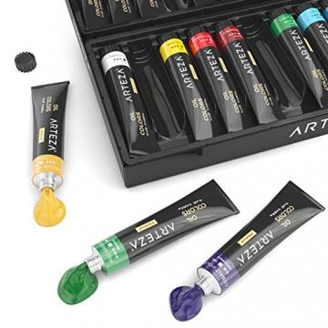 Arteza Colori Ad Olio Per Pittura - Kit Da 24 Tubetti Singoli Da 12 Ml Per La Pittura– Colori Ad Olio Professionali - Ideali sia su Tela che su Legno - 5