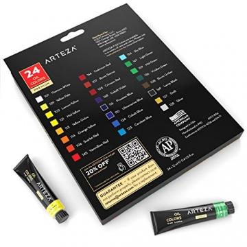 Arteza Colori Ad Olio Per Pittura - Kit Da 24 Tubetti Singoli Da 12 Ml Per La Pittura– Colori Ad Olio Professionali - Ideali sia su Tela che su Legno - 6