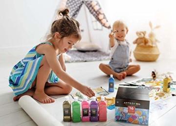 Arteza Tempere Lavabili Per Bambini, 400 ml, 16 Colori Brillanti Fluorescenti, Metallici, Glitter e Standard con Flacone Schiacciabile e Beccuccio Dosatore, Ideali per Bambini e Amanti della Pittura - 4