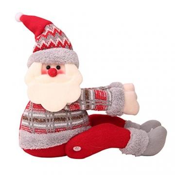 ARVIN87LYLY Christmas morsetto gancio di fissaggio tenda fibbia fibbie tende finestra tenda fermatenda forniture Babbo Natale regali di Natale tenda decorazione, Christmas curtain buckle old man - 3