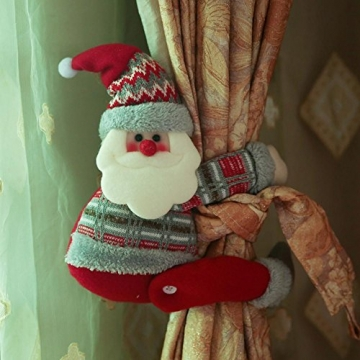 ARVIN87LYLY Christmas morsetto gancio di fissaggio tenda fibbia fibbie tende finestra tenda fermatenda forniture Babbo Natale regali di Natale tenda decorazione, Christmas curtain buckle old man - 1