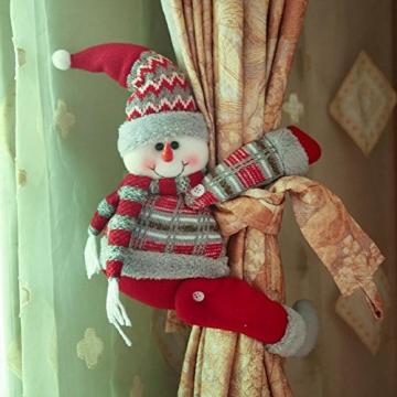 ARVIN87LYLY Christmas morsetto gancio di fissaggio tenda fibbia fibbie tende finestra tenda fermatenda forniture Babbo Natale regali di Natale tenda decorazione, Christmas curtain buckle old man - 5
