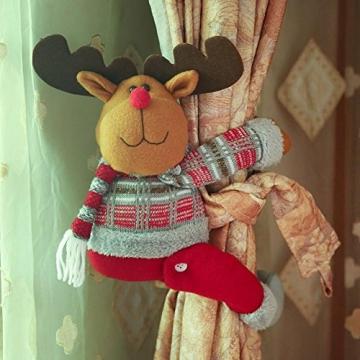 ARVIN87LYLY Christmas morsetto gancio di fissaggio tenda fibbia fibbie tende finestra tenda fermatenda forniture Babbo Natale regali di Natale tenda decorazione, Christmas curtain buckle old man - 6
