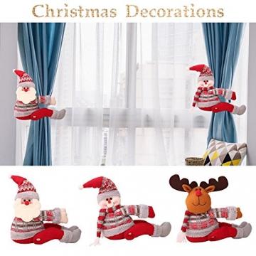 ARVIN87LYLY Christmas morsetto gancio di fissaggio tenda fibbia fibbie tende finestra tenda fermatenda forniture Babbo Natale regali di Natale tenda decorazione, Christmas curtain buckle old man - 8