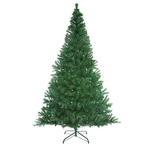 Casaria Albero di Natale 180cm 533 Rami PVC Supporto in Metallo Abete Artificiale Decorazione Natalizia Verde - 1