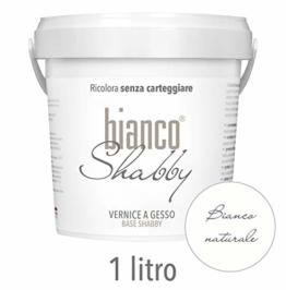 CHALK PAINT Bianco Naturale per Mobili e Pareti - Pittura Shabby Chic Vintage EXTRA OPACA (1 Litro) - 1