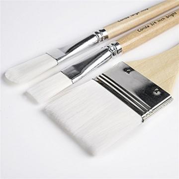 CONDA Pennelli Professionali per Colori ad Olio e Acrilici Set di Pennelli Spazzola per Dipingere 24 Pz Confezione in Nylon - 5