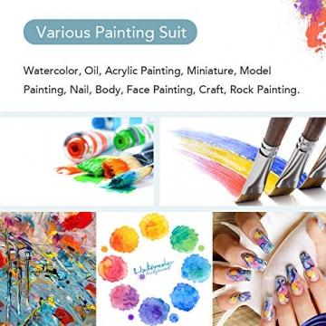 CONDA Pennelli Professionali per Colori ad Olio e Acrilici Set di Pennelli Spazzola per Dipingere 24 Pz Confezione in Nylon - 6