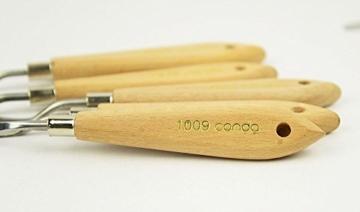 CONDA Set di coltelli Spatole Per Pittura Raschietto Per Pittura 11 Pezzi, Coltelli In Metallo Manico In Legno - 3