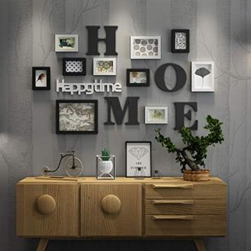 Cornice Portafoto Cornice fotogramma Collage in legno massiccio combinato soggiorno cornice cornice creativa ristorante sfondo decorazione della parete ( Colore : Nero ) - 3