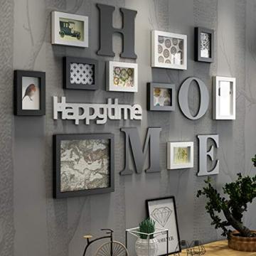 Cornice Portafoto Cornice fotogramma Collage in legno massiccio combinato soggiorno cornice cornice creativa ristorante sfondo decorazione della parete ( Colore : Nero ) - 1