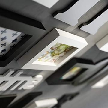 Cornice Portafoto Cornice fotogramma Collage in legno massiccio combinato soggiorno cornice cornice creativa ristorante sfondo decorazione della parete ( Colore : Nero ) - 5
