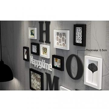 Cornice Portafoto Cornice fotogramma Collage in legno massiccio combinato soggiorno cornice cornice creativa ristorante sfondo decorazione della parete ( Colore : Nero ) - 6