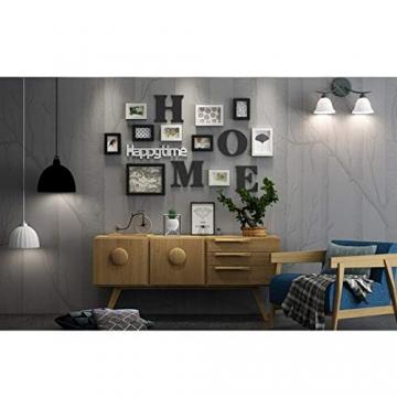 Cornice Portafoto Cornice fotogramma Collage in legno massiccio combinato soggiorno cornice cornice creativa ristorante sfondo decorazione della parete ( Colore : Nero ) - 7