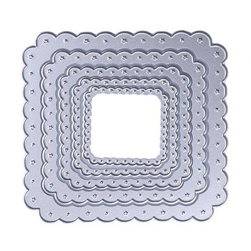 Demiawaking 5 Star quadrato Fustelle Stencil per DIY Scrapbooking album biglietti per goffratura modello (01) - 1