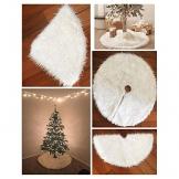 Demiawaking Gonna Bianca in Peluche per Albero di Natale Decorazione Natalizia (Diametro: 78cm) - 1