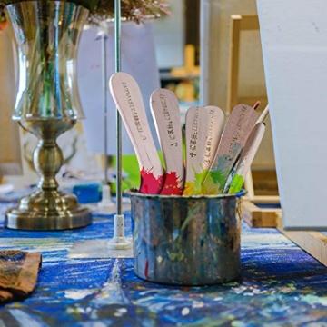 EAGLESTIME - Pennelli in legno per pittura a olio, acquerello / acrilico (Confezione da 12) - 2