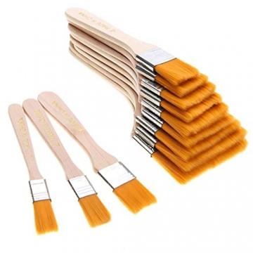 EAGLESTIME - Pennelli in legno per pittura a olio, acquerello / acrilico (Confezione da 12) - 5