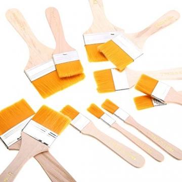 EAGLESTIME - Pennelli in legno per pittura a olio, acquerello / acrilico (Confezione da 12) - 7