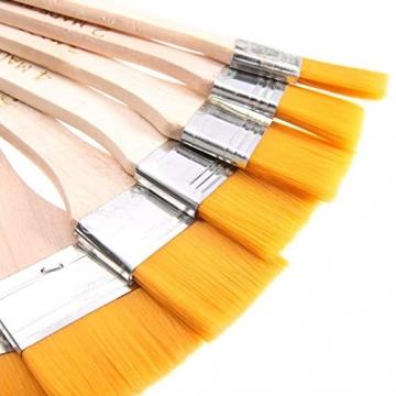 EAGLESTIME - Pennelli in legno per pittura a olio, acquerello / acrilico (Confezione da 12) - 8