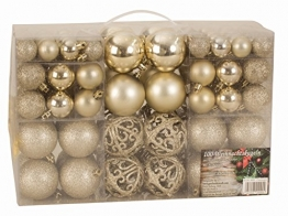 Esclusive Sfere per Albero di Natale SET con 100 Pezzi Color champagne - 1