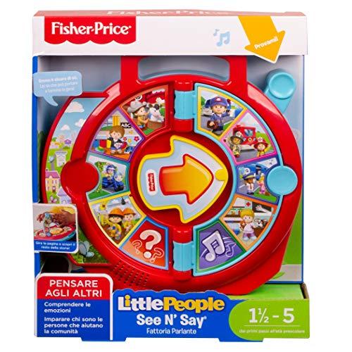 Fisher-Price FXJ70 Little People See 'N Say Fattoria Parlante Giocattolo Educativo per Imparare a Parlare per Bambini di 18+ Mesi - 1