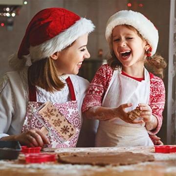 GoodGoodday Mattarello Natale, Rolling Pin per Biscotti e Pizza Utensile da Cucina in Rilievo di Legno Inciso a Forma di Mattarello Inciso di Natale,Goffratura Mattarello, Mattarello di Pane di Pasta - 2