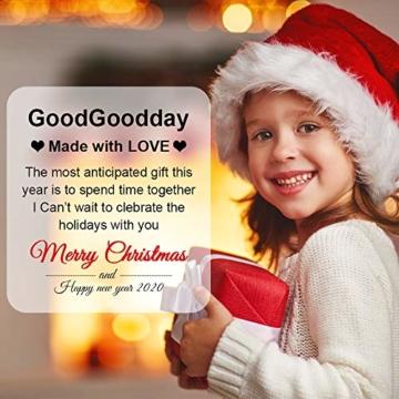 GoodGoodday Mattarello Natale, Rolling Pin per Biscotti e Pizza Utensile da Cucina in Rilievo di Legno Inciso a Forma di Mattarello Inciso di Natale,Goffratura Mattarello, Mattarello di Pane di Pasta - 7