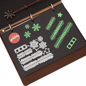 Kesote 9 Fustelle Metalliche di Natale Fustelle a Forme di Fiocchi di Neve, Albero di Natale, Renna Modello per Goffratura Natalizie Fustelle per Fai da Te Biglietti d'Auguri Scrapbooking Album - 3