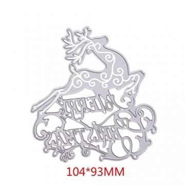 KINTRADE Buon Natale Taglio Muore Stencil Fai da Te Scrapbooking Goffratura Carta Decor - 2