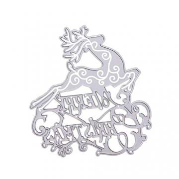 KINTRADE Buon Natale Taglio Muore Stencil Fai da Te Scrapbooking Goffratura Carta Decor - 1