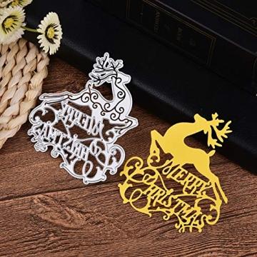 KINTRADE Buon Natale Taglio Muore Stencil Fai da Te Scrapbooking Goffratura Carta Decor - 8
