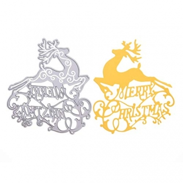 KINTRADE Buon Natale Taglio Muore Stencil Fai da Te Scrapbooking Goffratura Carta Decor - 9