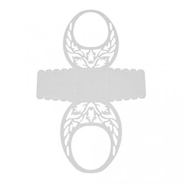 Lazzboy Fustelle Natale Scrapbooking Metallo Stencil Paper Card Craft per Sizzix Big Shot/Altre Macchine(O, Cestino) - 4