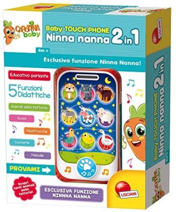 Lisciani Giochi- Carotina Baby Touch Phone Ninna Nanna 2 in 1, 65479.0 - 2