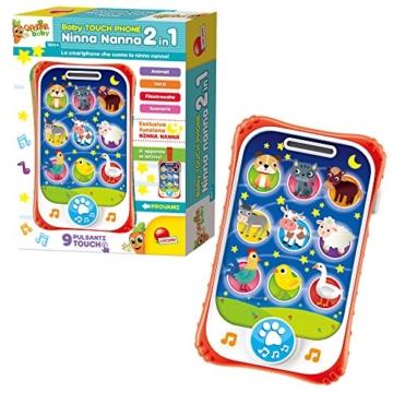 Lisciani Giochi- Carotina Baby Touch Phone Ninna Nanna 2 in 1, 65479.0 - 4